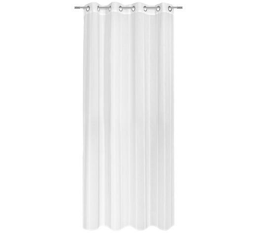 ZÁVĚS HOTOVÝ, průhledné, 135/245 cm - bílá, Basics, textil (135/245cm) - Esposa