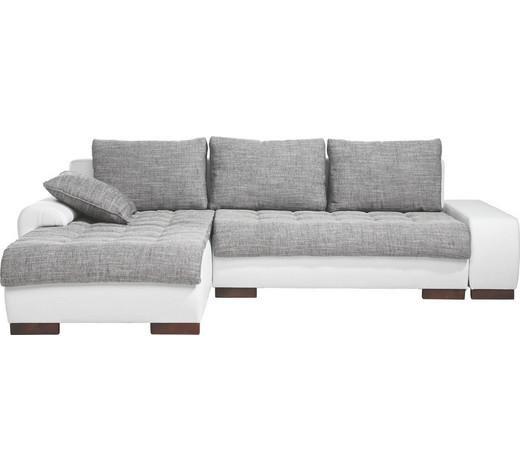 Wohnlandschaft in grau wei textil online kaufen xxxlutz for Wohnlandschaft konfigurieren
