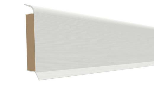 SOCKELLEISTE - Weiß, Basics (250/6/1,3cm) - Venda
