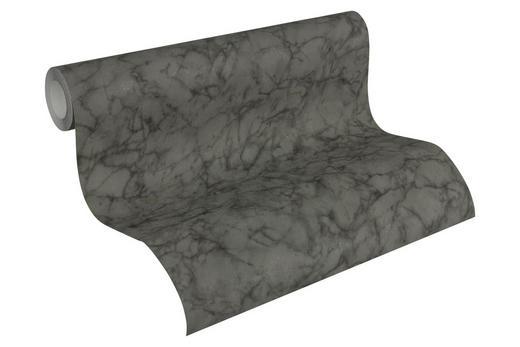 VLIESTAPETE 10,05 m - Schwarz/Grau, Basics, Textil (53/1005cm)