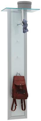 GARDEROBENPANEEL Alufarben, Weiß - Alufarben/Weiß, Design, Glas/Metall (52/170/35cm) - DIETER KNOLL