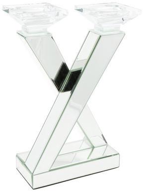 LJUSSTAKE - silver, Design, glas/trä (25/35,5/15cm) - Ambia Home
