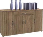KOMMODE 118/70/30 cm  - Eichefarben/Silberfarben, KONVENTIONELL, Holzwerkstoff/Kunststoff (118/70/30cm) - Carryhome