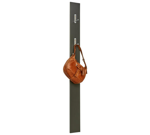 GARDEROBENPANEEL 15/170/4 cm - Edelstahlfarben/Graphitfarben, Design, Holzwerkstoff/Metall (15/170/4cm) - Voleo