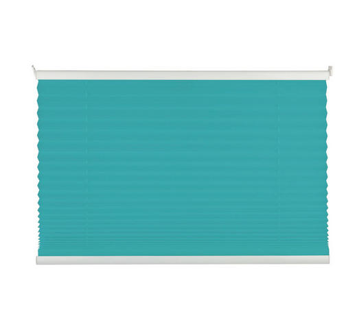 PLISSEE  halbtransparent  60/130 cm    - Blau, Basics, Textil (60/130cm)