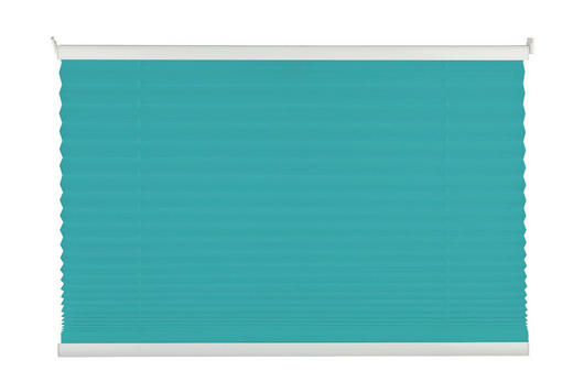 PLISSEE  halbtransparent  50/130 cm - Türkis/Blau, Basics, Textil (50/130cm) - Homeware