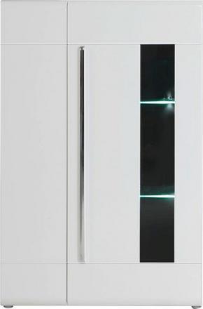 VITRINSKÅP - vit/kromfärg, Design, glas/träbaserade material (89,9/149,6/41,1cm) - Hom`in