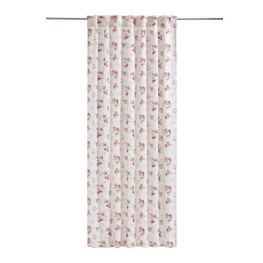 KOMBINOVANÝ ZÁVĚS - bílá/růžová, Trend, textilie (135/245/cm) - Landscape