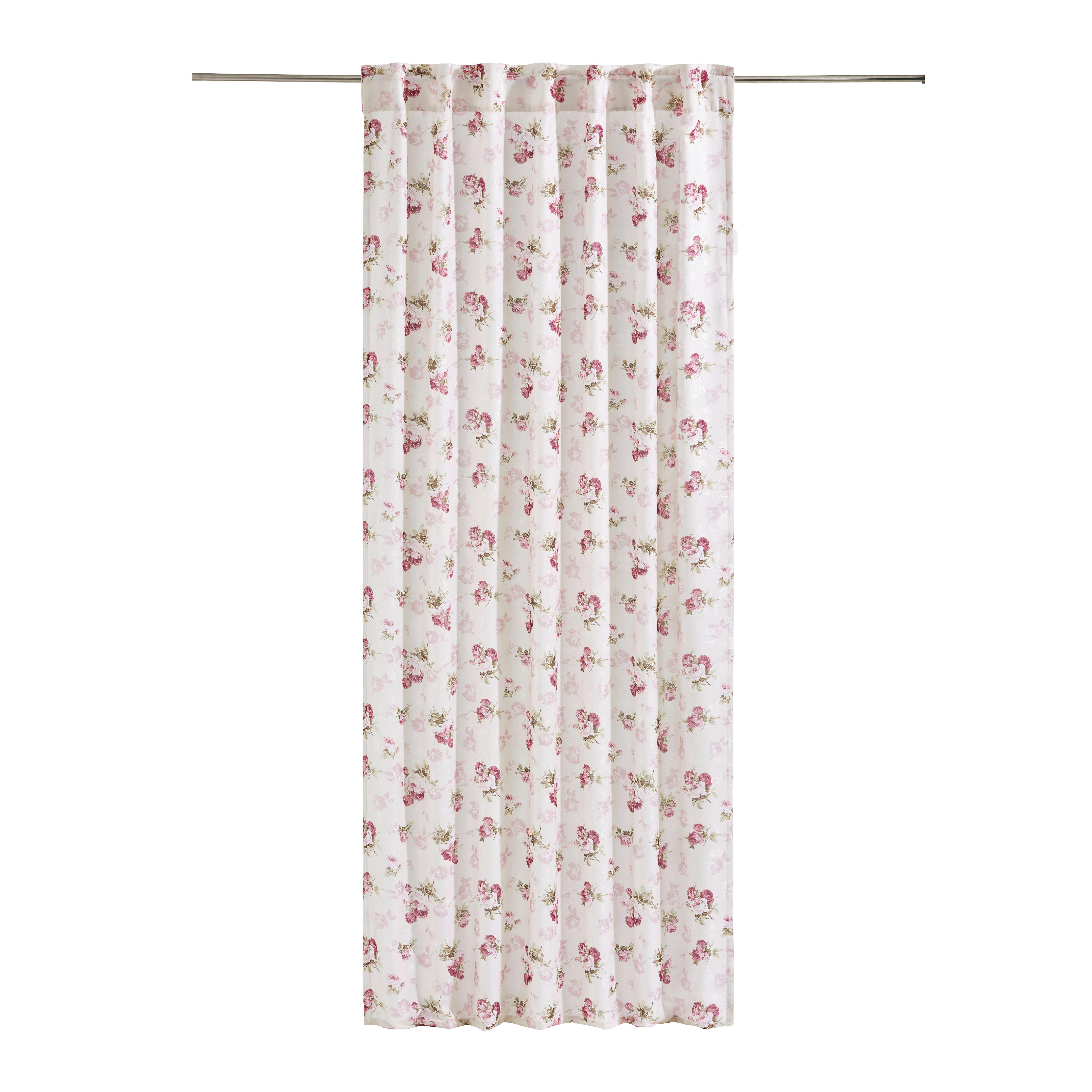 KOMBIVORHANG blickdicht - Rosa/Weiß, LIFESTYLE, Textil (135/245cm) - ESPOSA