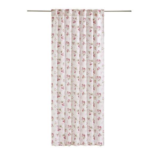 KOMBIVORHANG  blickdicht  135/245 cm - Rosa/Weiß, Trend, Textil (135/245cm) - LANDSCAPE