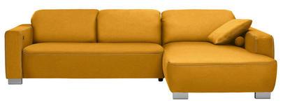 WOHNLANDSCHAFT in Textil Gelb  - Chromfarben/Gelb, Design, Holz/Textil (296/195cm) - Hom`in