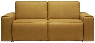 SCHLAFSOFA Gelb, Chromfarben  - Chromfarben/Gelb, Design, Textil/Metall (210/90/102cm) - Dieter Knoll