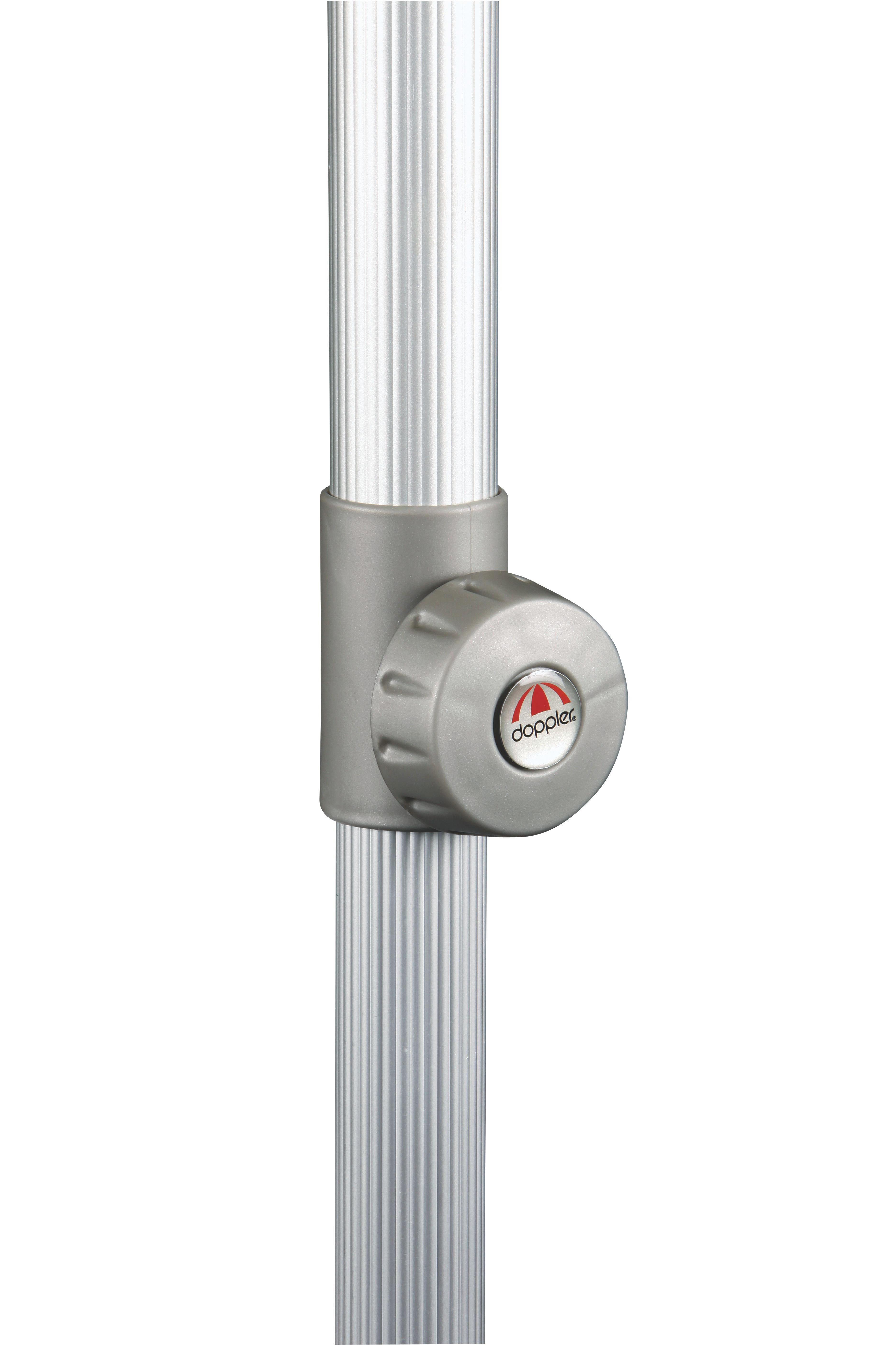 SONNENSCHIRM 200x250 cm Greige - Greige/Silberfarben, KONVENTIONELL, Textil/Metall (250/200cm)