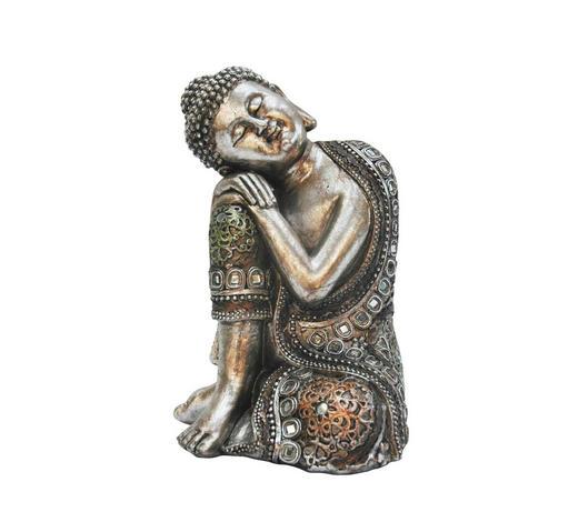 BUDDHA - Silberfarben, Basics, Kunststoff (15/23/14cm) - Ambia Home