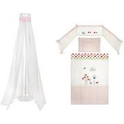 4/1 SET ZA POSTELJICO TWEETY - roza/večbarvno, Basics, tekstil - PATINIO