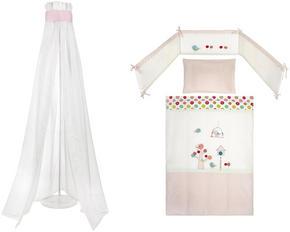 BÄDDSET FÖR SPJÄLSÄNG - multicolor/rosa, Basics, textil - Patinio