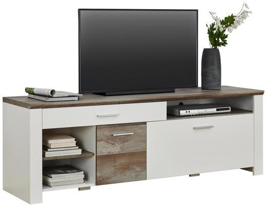 TV-ELEMENT - Chromfarben/Weiß, Trend, Holzwerkstoff/Kunststoff (179/61/48cm) - Carryhome