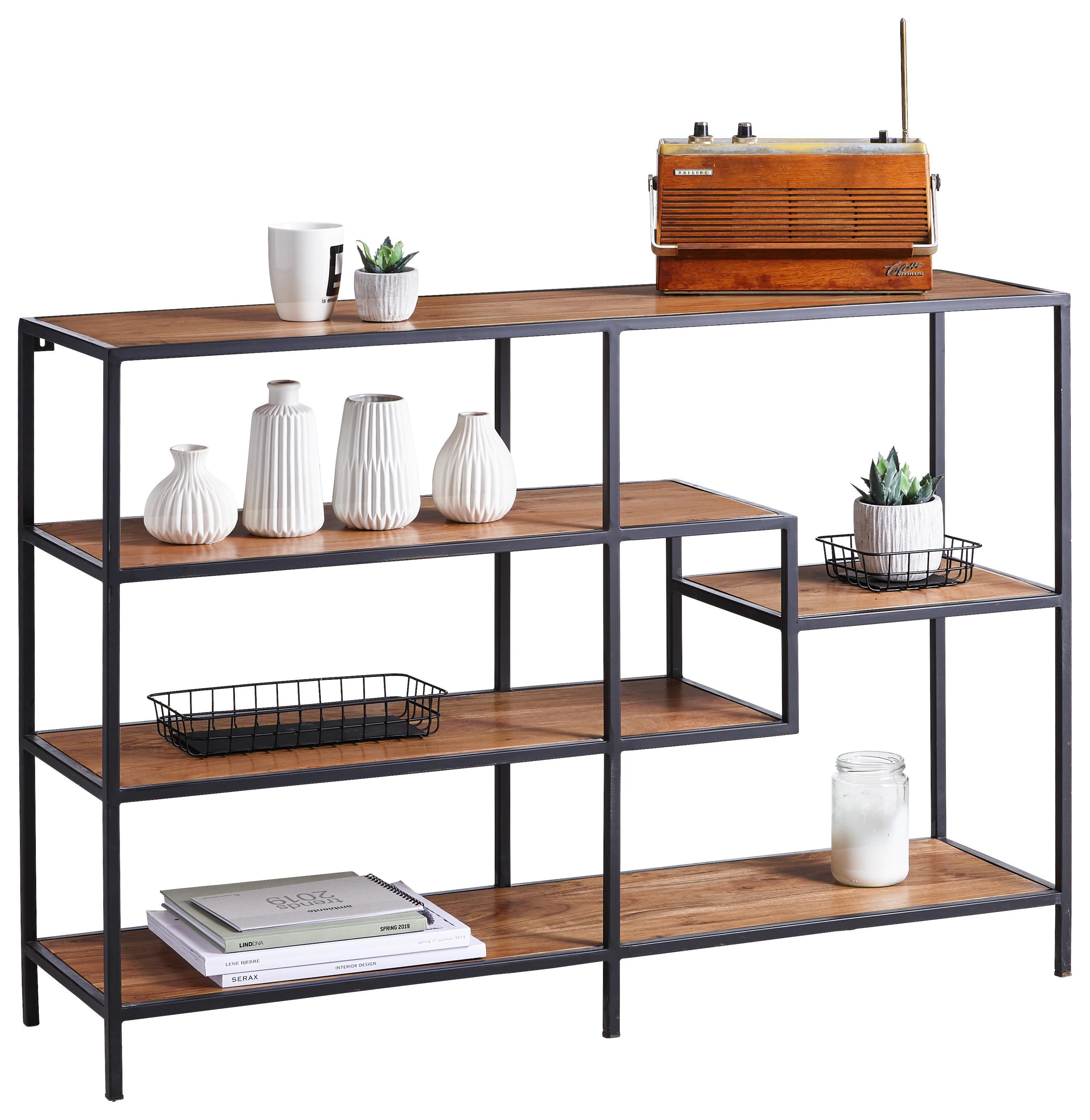 2 Holz Ablagen Design Wandregal 40x35 Cm Metall Hangeregal Gitter