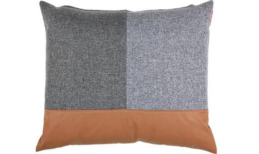 KISSEN 50/50 cm - Schwarz/Braun, Design, Textil (50/50cm) - Innovation