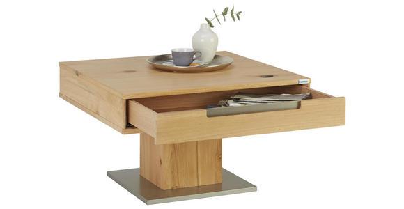 COUCHTISCH in Holz 75/75/45 cm - Eichefarben/Silberfarben, KONVENTIONELL, Holz/Holzwerkstoff (75/75/45cm) - Cantus