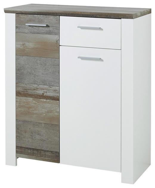 SCHUHSCHRANK 90/105/39 cm - Chromfarben/Weiß, Trend, Holzwerkstoff/Kunststoff (90/105/39cm) - Xora