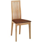 STUHL in Holz, Textil Braun, Eichefarben  - Eichefarben/Braun, Natur, Holz/Textil (42/95/45cm) - Linea Natura