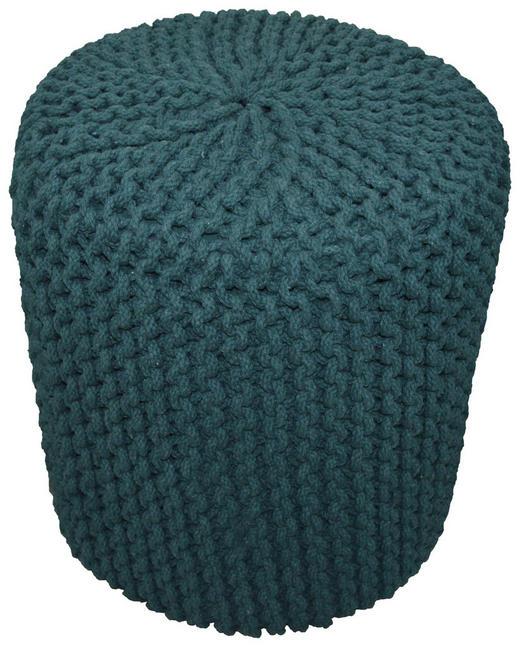 POUF - Smaragdgrün, Trend, Textil (44/44cm) - Carryhome