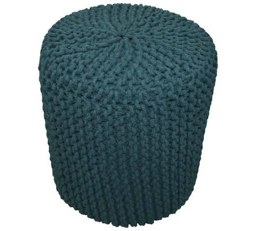 POUF in Textil - Smaragdgrün, Trend, Textil (44/44cm) - Carryhome