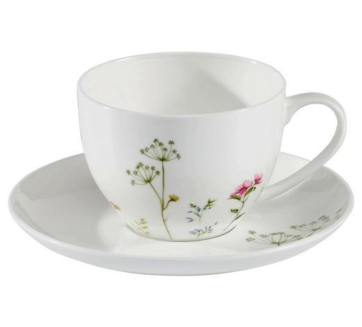ŠÁLEK S PODŠÁLKEM, kostní porcelán (bone china) - bílá/vícebarevná, Lifestyle, keramika - Novel
