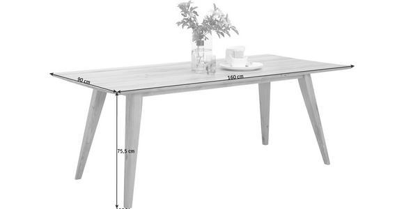 ESSTISCH in Holz 160/90/75,5 cm   - Eichefarben, KONVENTIONELL, Holz (160/90/75,5cm) - Voleo