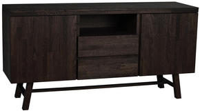 SIDEBOARD - mörkbrun, Klassisk, trä (160/80/45cm) - Rowico