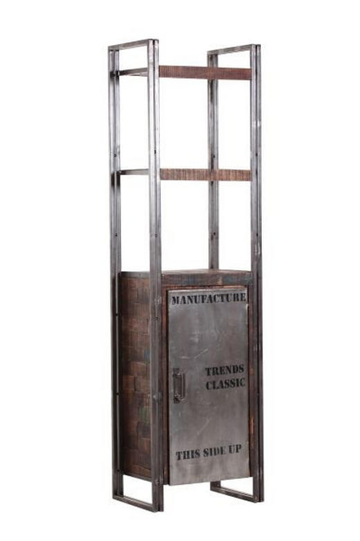 REGAL Mangoholz massiv Braun - Braun, Basics, Holz/Metall (55/200/40cm)