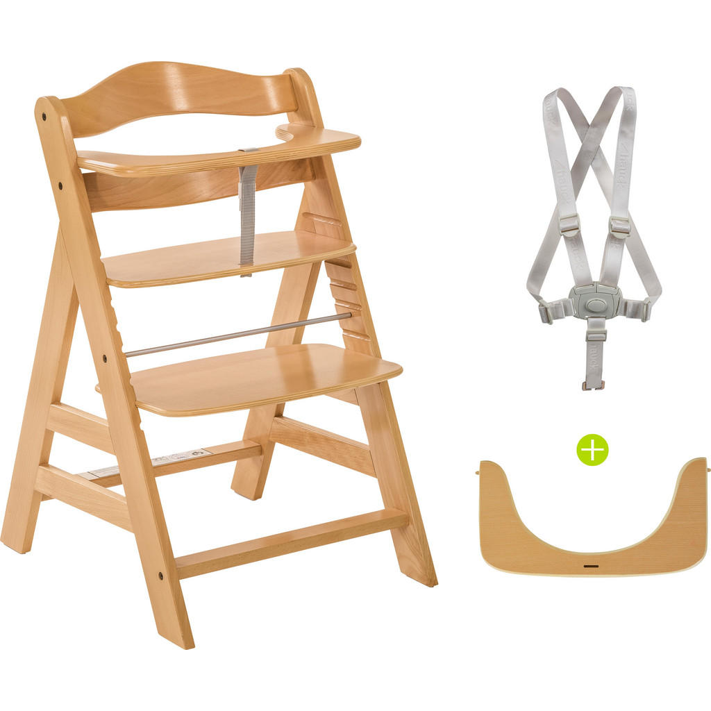 Hauck KOMBIHOCHSTUHL Buche, Mehrfarbig | Kinderzimmer > Kinderzimmerstühle > Hochstühle | Holz | Hauck