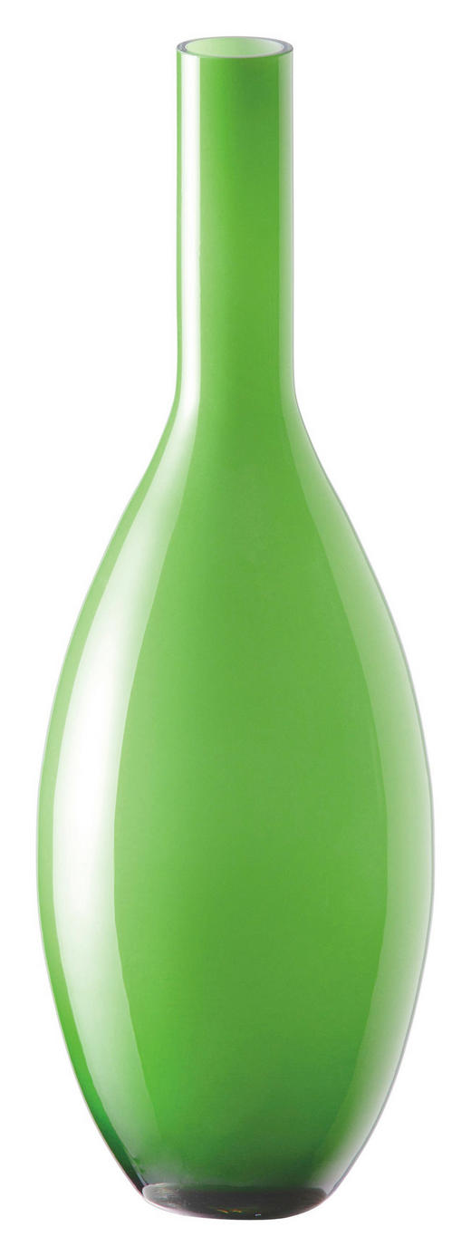 VASE - Grün, Basics, Glas (14/39cm) - LEONARDO