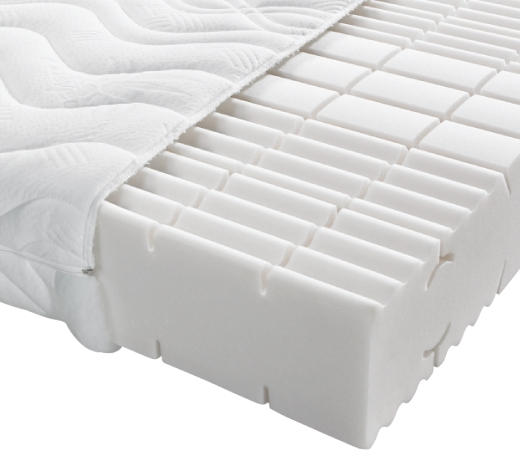 KOMFORTSCHAUMMATRATZE 120/200 cm - Weiß, Basics, Textil (120/200cm) - Sleeptex