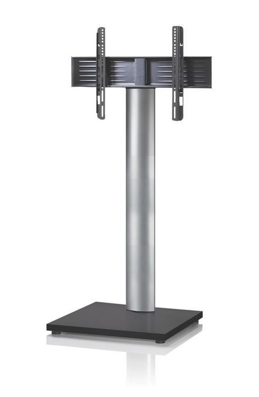 TV-RACK Metall Schwarz, Silberfarben - Silberfarben/Schwarz, KONVENTIONELL, Metall (68/130/54cm)
