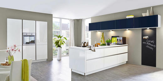EINBAUKÜCHE - Blau/Weiß, Design - Nolte Küchen