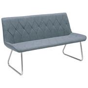 SITZBANK Lederlook Edelstahlfarben, Grau   Edelstahlfarben/Grau, Design,  Textil/Metall (