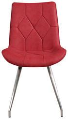 STOL, kovina, tekstil rdeča - rdeča/nerjaveče jeklo, Design, kovina/tekstil (51,5/89/65,5cm) - Novel
