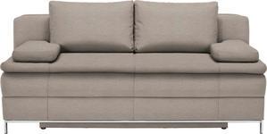 BOXSPRINGSOFA Beige  - Chromfarben/Beige, Design, Textil/Metall (200/93/107cm) - Novel