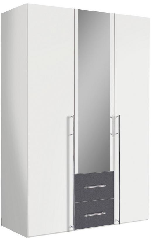 DREHTÜRENSCHRANK in Graphitfarben, Weiß - Alufarben/Graphitfarben, Design, Holzwerkstoff/Metall (150/216/58cm) - Hom`in