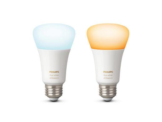 LEUCHTM-SET HUE WHITE AMBIANCE  E27 9,5 W - Weiß, Design, Kunststoff (6,2/11,0/6,2cm) - Philips