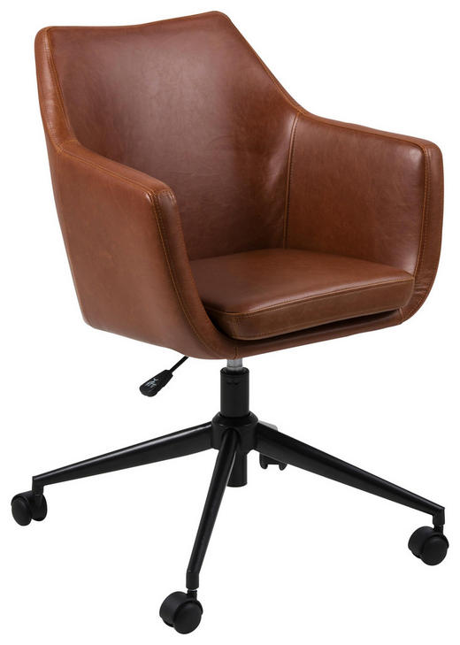 SNURRSTOL - brun/svart, Design, metall/textil (58/91,5/58cm) - Carryhome