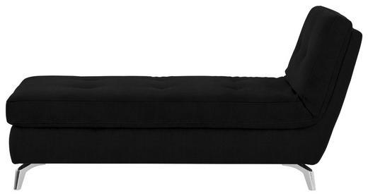 RECAMIERE Flachgewebe Schwarz - Chromfarben/Schwarz, Design, Textil/Metall (200/110/83cm) - Bali