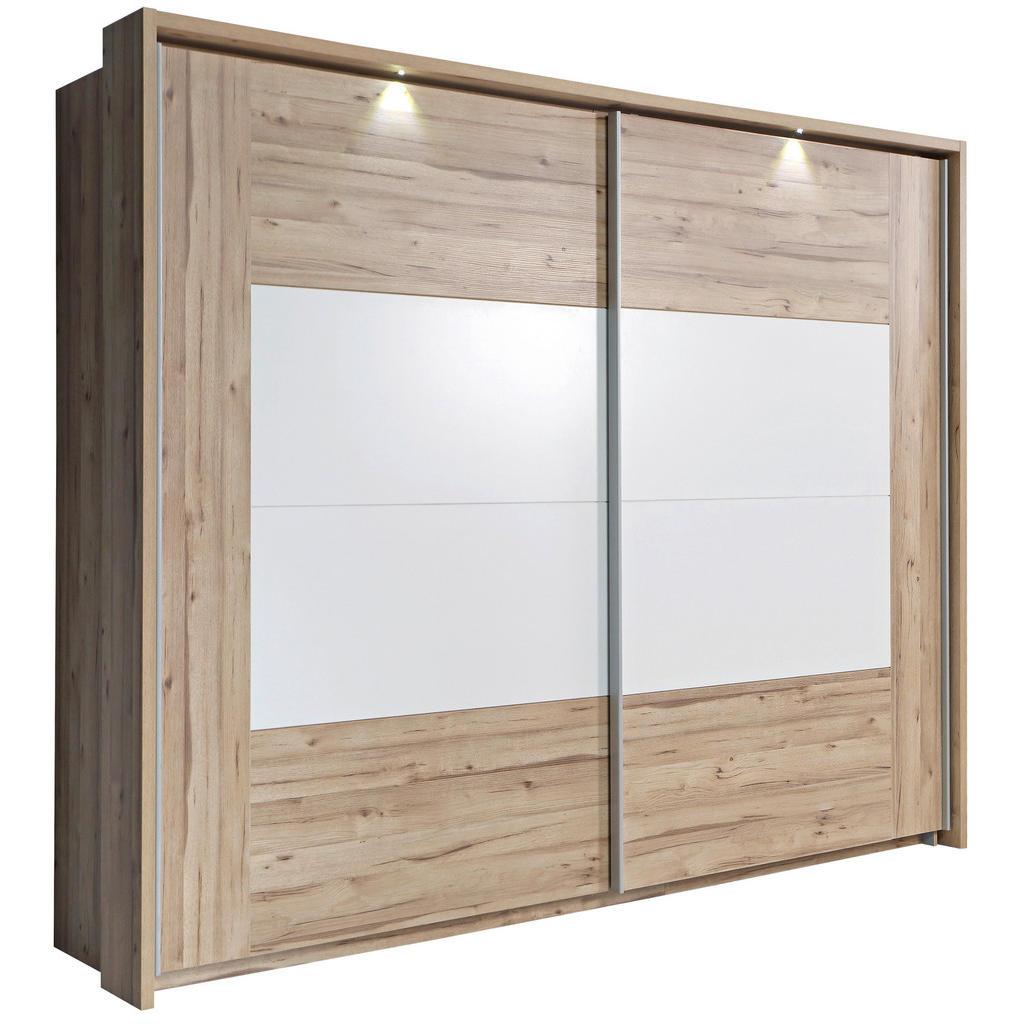 Ti`me SKŘÍŇ S POS. DVEŘMI.(HOR.VED.), dub, bílá, barvy dubu, 270/210/61 cm