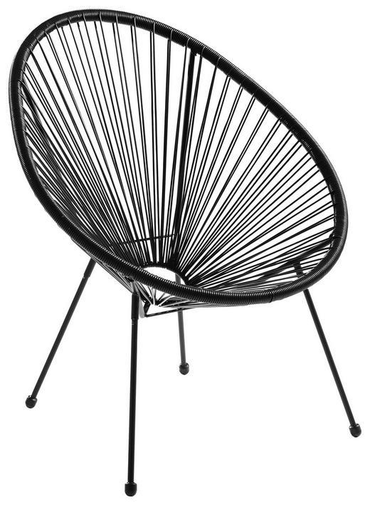 STUHL in Kunststoff, Metall Schwarz - Schwarz, Design, Kunststoff/Metall (73/76/89cm) - Ambia Garden