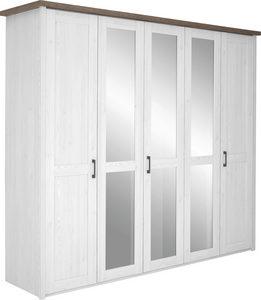 ORMAR SA KLASIČNIM VRATIMA - Boja hrasta tartufa/Grafitno siva, Dizajnerski, Metal/Pločasti materijal (241/212/62cm) - Carryhome