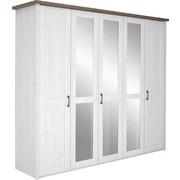KLEIDERSCHRANK in Eichefarben, Weiß - Eichefarben/Weiß, LIFESTYLE, Holzwerkstoff/Metall (235/213/61cm) - CARRYHOME