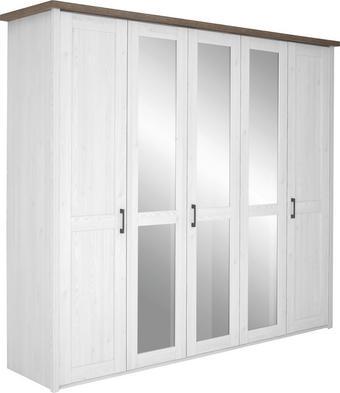 ORMAR S KLASIČNIM VRATIMA - bijela/boje grafita, Design, drvni materijal/metal (241/212/62cm) - Carryhome
