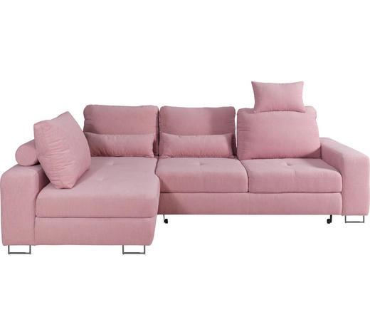 SJEDEĆA GARNITURA - roza, Design, tekstil/metal (188/260cm) - Hom`in